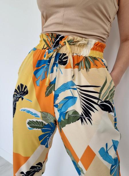 Spodnie haremki 1206 żółte