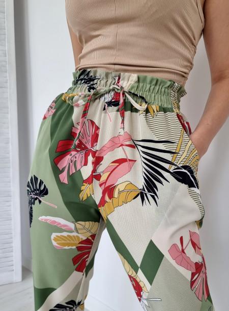 Spodnie haremki 1206 zielone