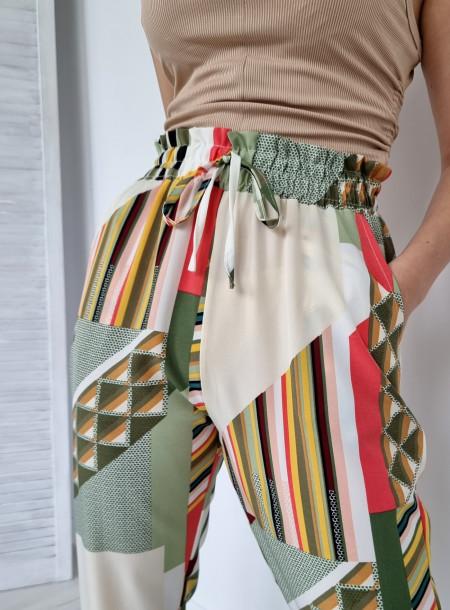 Spodnie haremki 1205 zielone