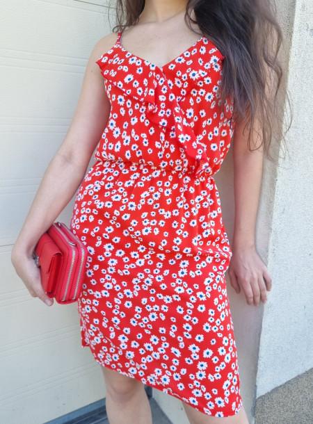 Sukienka 3883 czerwona