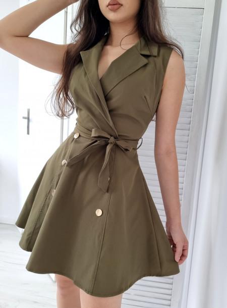 Sukienka 89022 khaki