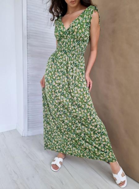 Sukienka wiskoza 610 zielona