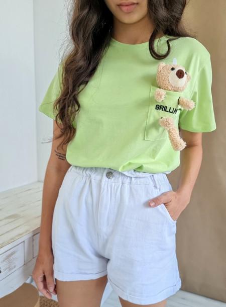 T-shirt miś 3726 zielony