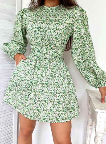 Sukienka kokarda F244 zielony