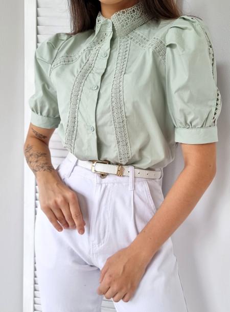 Koszula haft 91860 zielona