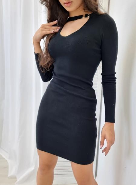 Sukienka dzianina 5826 czarna