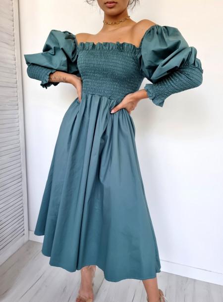 Sukienka ściągacz 5944 morska