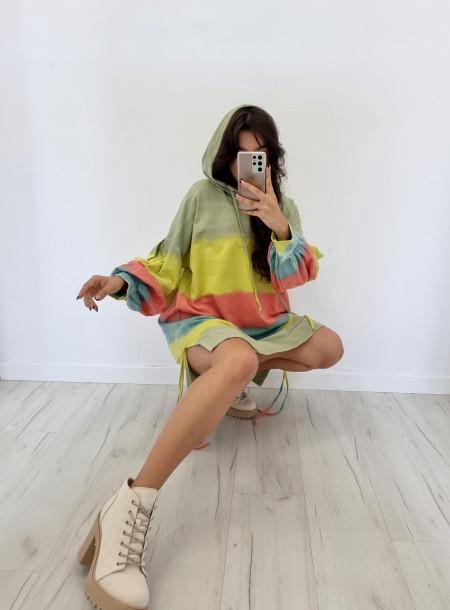 Bluza dresowa 6631 żółta