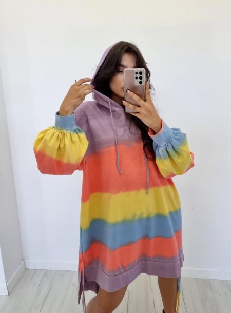 Bluza dresowa 6631 fioletowa