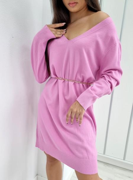 Kaszmirowy sweter SUZY lila 003