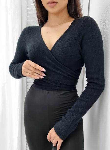 Sweterek kopertowy 7012 czarny