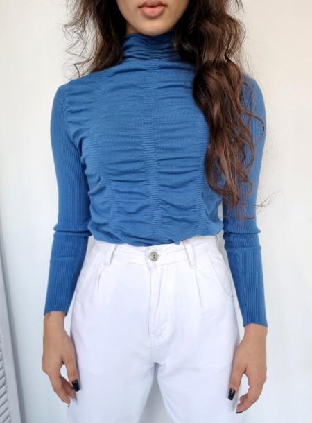Sweter półgolf 136 niebieski