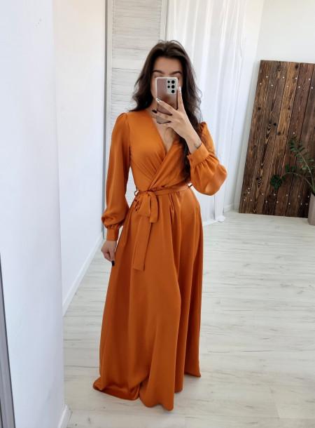 Sukienka 91218 karmelowy