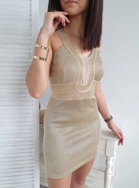 Sukienka 5009 beż