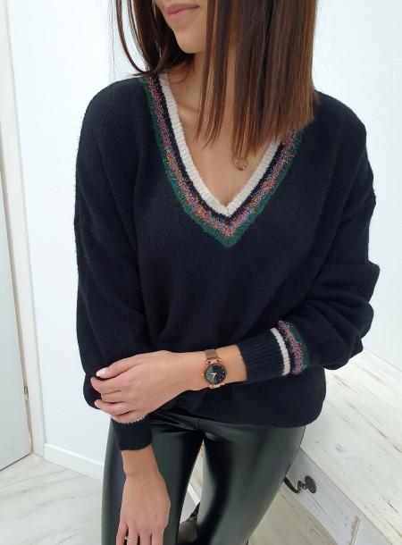 Sweter 828230 czarny