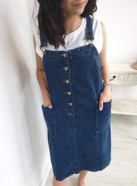 Ogrodniczka jeans 19196 size +