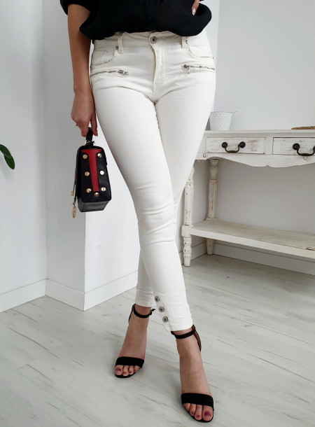 Spodnie jeans 4072 biały