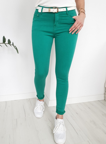 Spodnie jeans 9001 turkus
